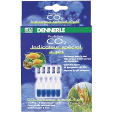"Indicateur spécial ""Profi-Line"" CO2 + pH Dennerle - X5 ampoules"