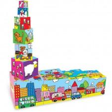 Cubes Gigognes-Puzzles VILAC bois - 80cm