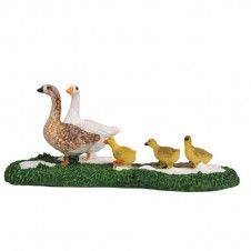 """Figurine """"Goose with Babies"""" - LUVILLE"""