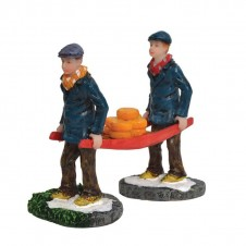 "Figurine ""Pim en Jip Carrying Cheese"" - LUVILLE"