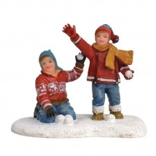 """Figurine """"Rob and Tom's Snowfight"""" - LUVILLE"""