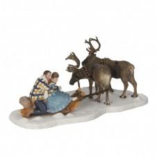 "Figurine ""Deer Cart"" - LUVILLE"