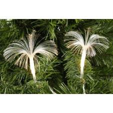 "Guirlande lumineuse ""fleurs plates"" - 4,75 m -  blanc chaud - LUMINEO"