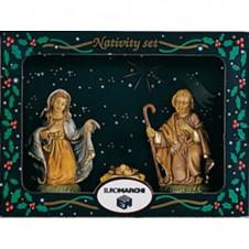 """Assortiment 3 santons """"Jésus-Marie-Joseph"""" Euromarchi - 10cm"""