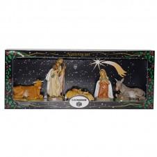 """Assortiment 5 santons """"Nativité"""" Euromarchi - 12cm"""