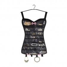 Porte-bijoux corset noir - Umbra