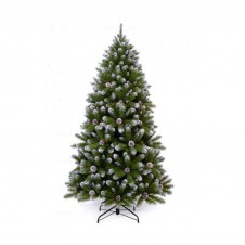 """Sapin artificiel """"Empress Spruce Frosted with cones"""" - 155cm"""