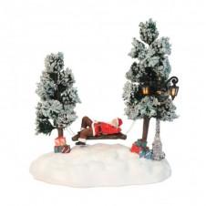 Le Père Noël sur balançoire Luville