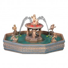 """Fontaine """"Lighted village square fountain"""" - LEMAX"""