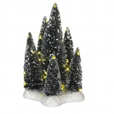 """Arbres """"6 Trees on Base"""" white - LUVILLE"""