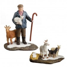 "Figurine ""Yann with goats"" - LUVILLE"