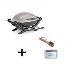 """Barbecue électrique Weber """"Q1400"""" gris + accessoires offerts"""