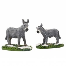 """Figurine """"Donkey And Foal"""" X2 - LUVILLE"""