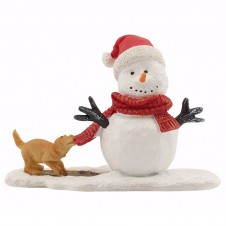 "Figurine ""Dog Teasing Snowy"" - LUVILLE"