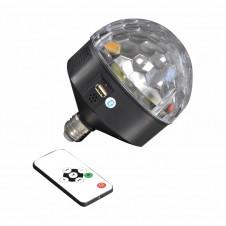 Boule disco E27 LED - bluetooth - multicouleur - LUMINEO