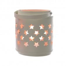 "Lanterne flamme ""cercle métal"" - 12 cm - LUMINEO"