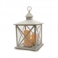 """Lanterne """"3 flammes"""" blanc - 40,5 cm - LUMINEO"""