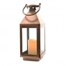 "Lanterne flamme ""cuivre"" - 39 cm - LUMINEO"