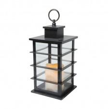 Lanterne flamme - 35 cm -noire - LUMINEO