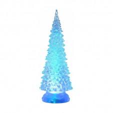 Sapin acrylique led - 32 cm - multicouleur - LUMINEO