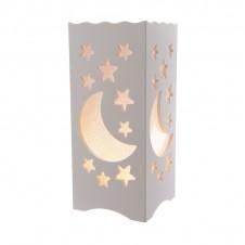 """Lanterne lumineuse """"lune et étoiles"""" - 38 cm - LUMINEO"""