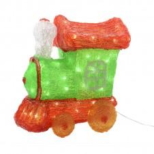 """Sujet acrylique led """"train"""" coloré - 29 cm - LUMINEO"""