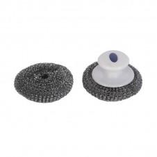 2 boules de laine d'inox avec poignée - LE MARQUIER