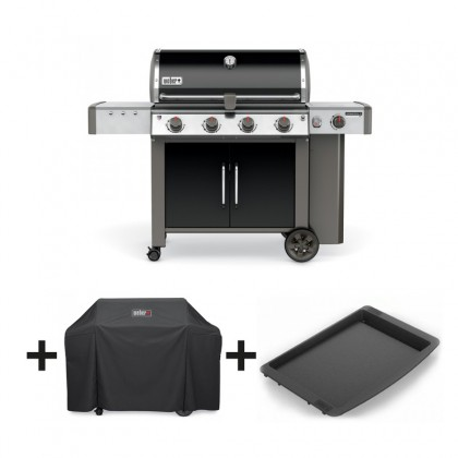 pack barbecue gaz genesis ii lx e 440 gbs noir plancha housse weber. Black Bedroom Furniture Sets. Home Design Ideas