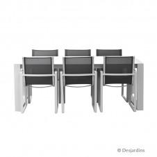 "Ensemble ""Casablanca"" 1 table + 6 fauteuils - DESJARDINS"