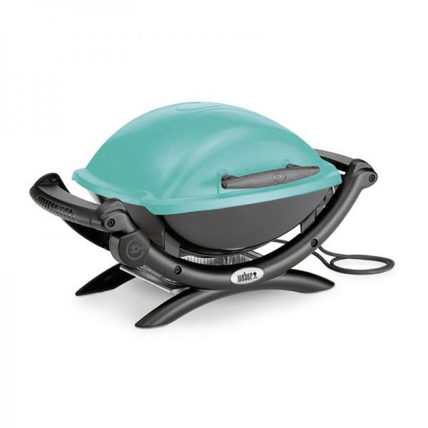 barbecue lectrique q1400 bleu turquoise weber. Black Bedroom Furniture Sets. Home Design Ideas