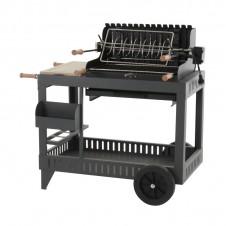 """Barbecue au charbon """"Mendy"""" sur chariot - Acier/anthracite - LE MARQUIER"""