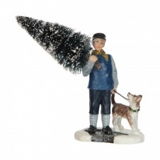 """Figurine """"Collecting a christmas tree"""" - LUVILLE"""
