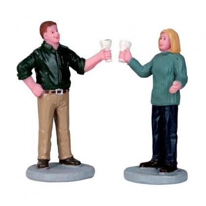 "Figurine ""A fine vintage, set of 2"" - LEMAX"