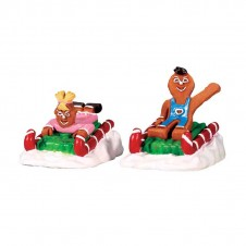"Figurines ""Sweet Sledding"" - LEMAX"