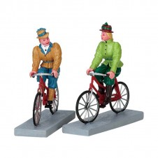 "Figurines ""Bloomers and bicycles"" - LEMAX"