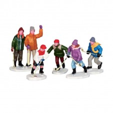 "Figurines ""The home team""X5 - LEMAX"
