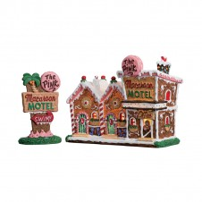 "Hôtel ""The Pink Macaroon Motel, Set of 2"" - LEMAX"