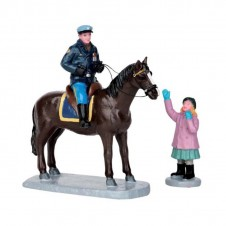 "Figurine ""Mounted Policeman""X2 - LEMAX"