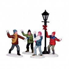 "Figurines ""Snowball fight""X4 - LEMAX"