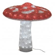 "Sujet acrylique led ""champignon"" rouge - 50 cm - LUMINEO"