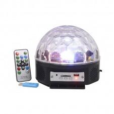 Boule magique LED avec MP3 - 6 LED - LUMINEO