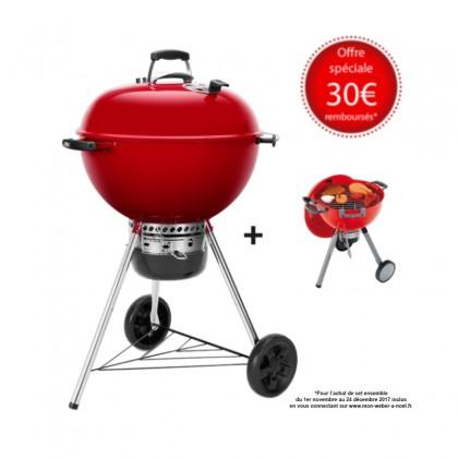 "Barbecue charbon ""Master-Touch GBS"" 57 cm rouge édition limitée + jouet - WEBER"