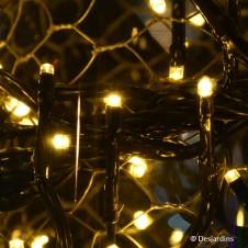 Guirlande électrique à LED grappe - blanc chaud