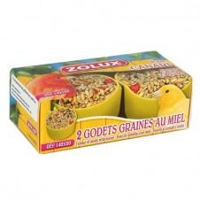 Godets de graines au miel dessert Zolux - X 2