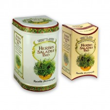 Boîte en métal - mélange à salade - 4 herbes