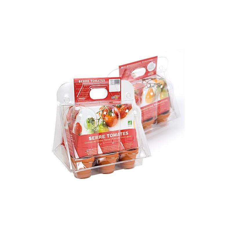 Mini serre - 6 tomates bio