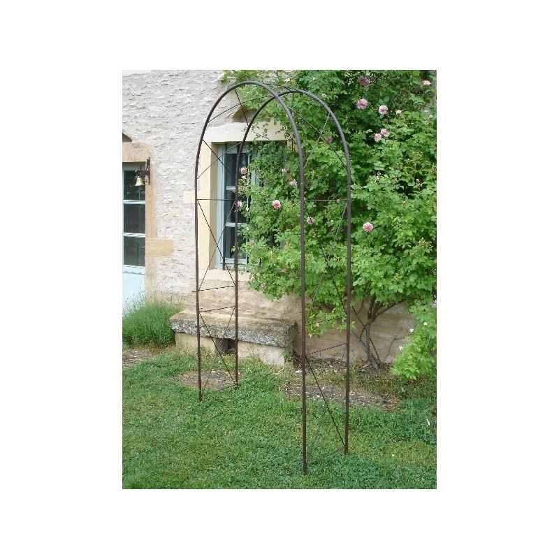 JTWEB Lot de 2 supports muraux en fer forg/é avec vis pour jardin 30 x 18 cm