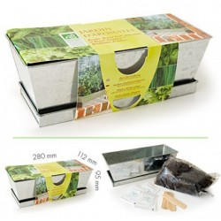 Kit plantation jardinière en zinc - Jardin d'aromates bio