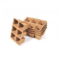 Plaques de 36 godets carré 4 x 5 cm