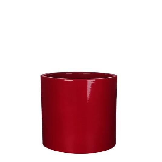 Pot rond Era rouge - ø13,5cm H12,5cm
